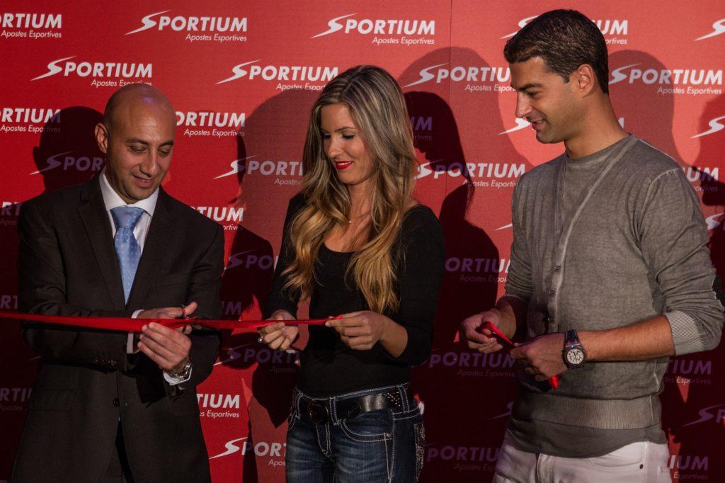 Gerard López en la inauguración de Sportium Cataluña