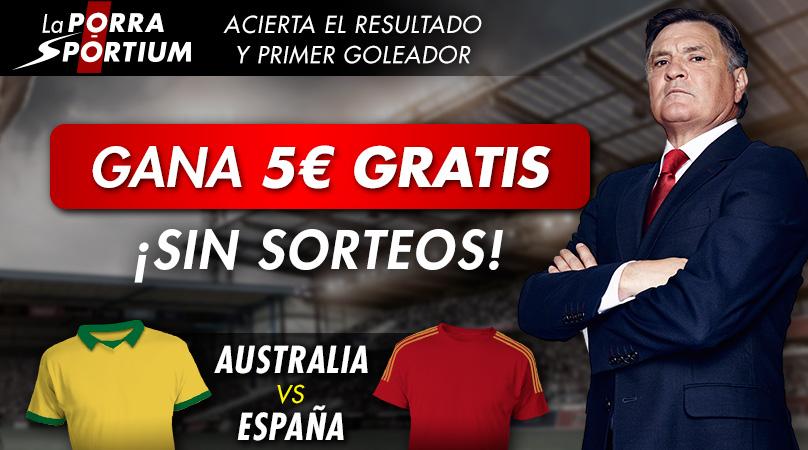 PORRA AUSTRALIA-ESPAÑA EN NUESTRAS RRSS