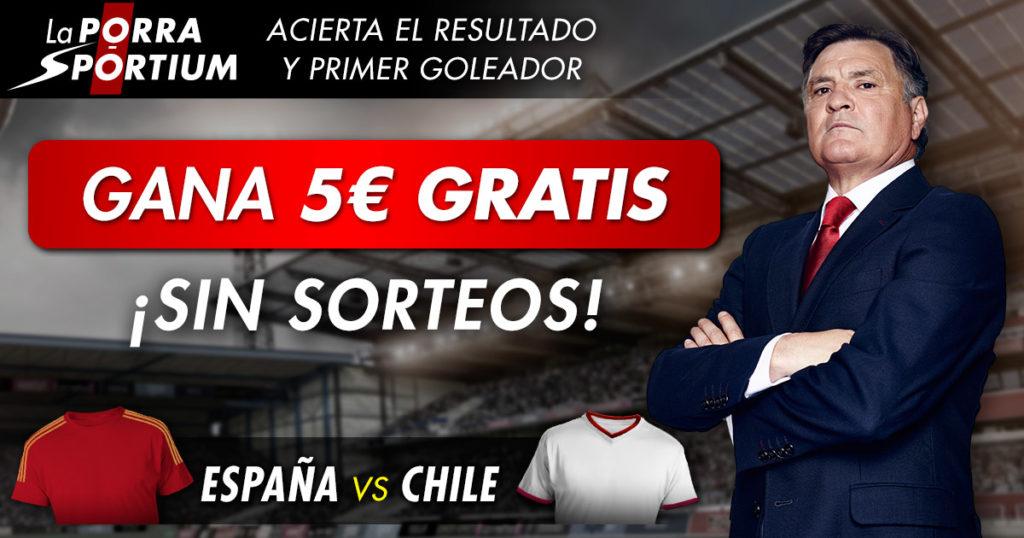 Porra España – Chile en nuestras redes sociales