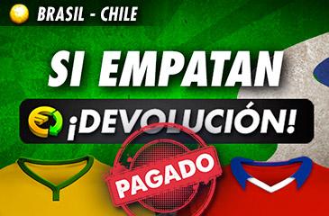 Empate Brasil-Chile: DEVOLUCIÓN