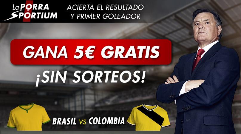 PORRA BRASIL-COLOMBIA EN NUESTRAS RRSS
