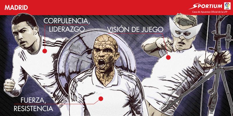 Los Superhéroes del Real Madrid