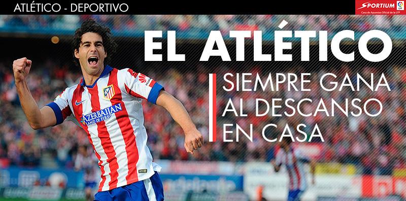 El Atlético es intratable en la primera parte en el Calderón
