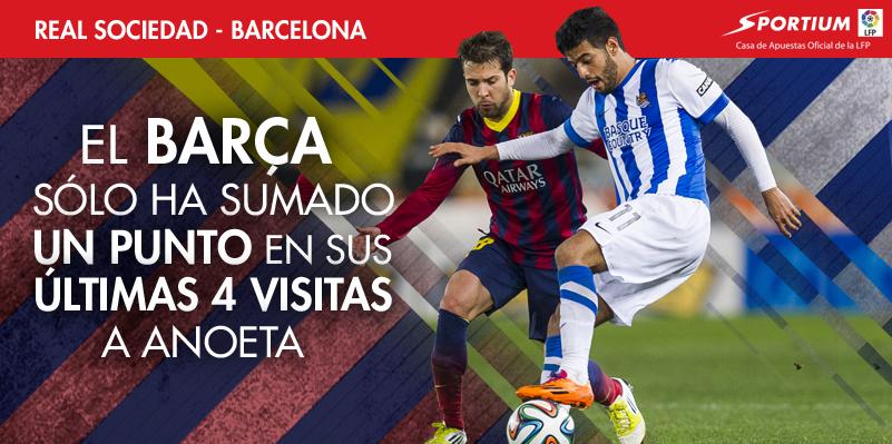 El Barça sufre en Anoeta