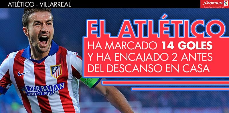 El Atlético arrasa en la primera parte en el Calderón
