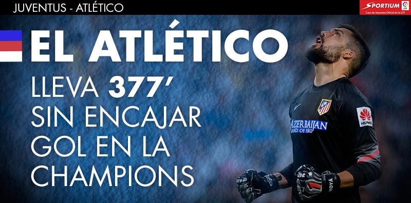 El Atlético no encaja gol el Champions desde la primera jornada