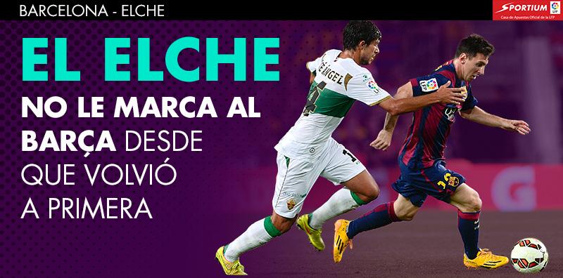 El Barça es claro favorito ante el Elche