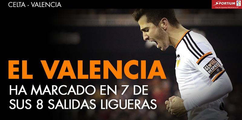 El Valencia es un seguro de gol a domicilio