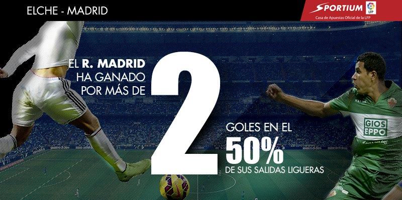El Madrid ha goleado en la mitad de sus salidas
