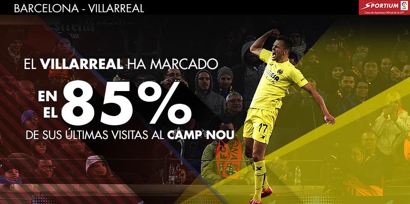 El Villarreal le ha cogido el gusto a marcar en el Camp Nou