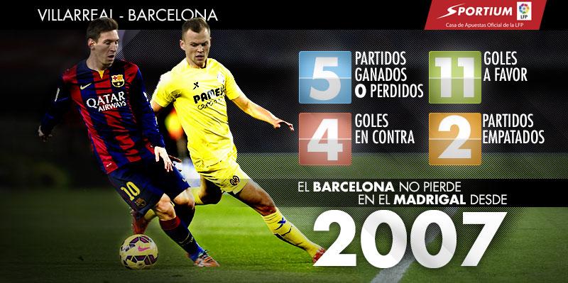 Al Barça se le da bien El Madrigal