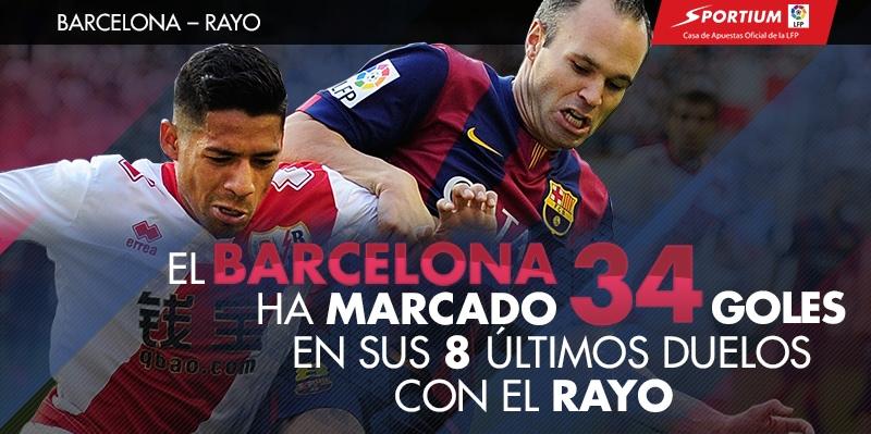 La defensa rayista se diluye ante el Barça