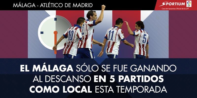 El Málaga tarda en arrancar en sus partidos como local