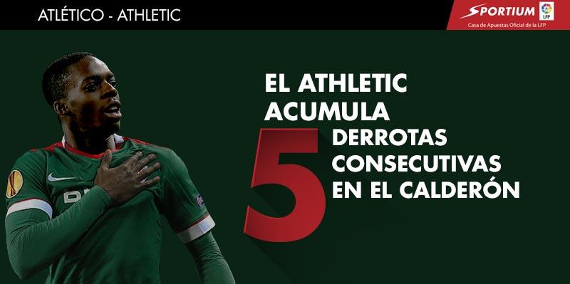 El Atlético le tiene tomada la medida al Athletic