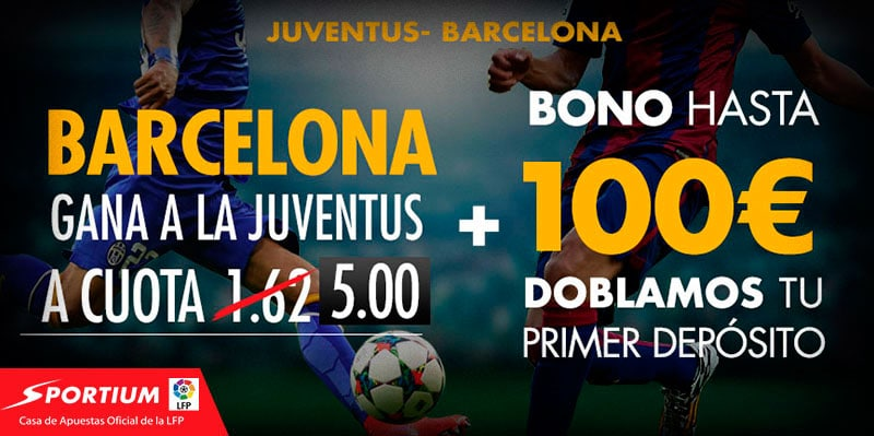 Supercuota Juventus - Barcelona Sportium