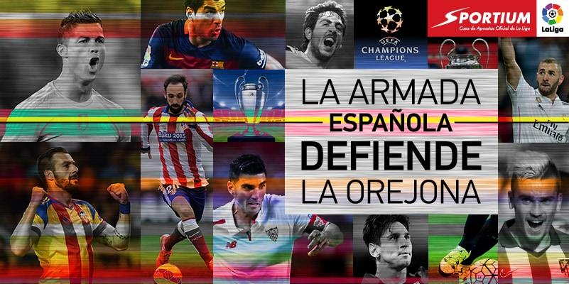 Llega la Champions 2015-2016: La bandera española vuela alto