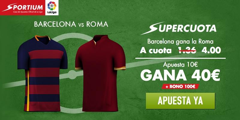 Supercuota Barcelona - Roma