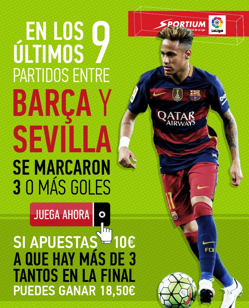 Los goles, protagonistas en la final de la Copa del Rey entre Barça y Sevilla.