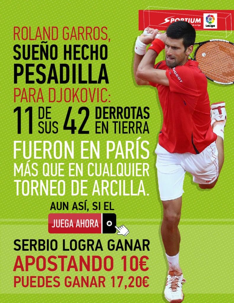 Roland Garros es el gran reto que le queda por conquistar a Novak Djokovic.