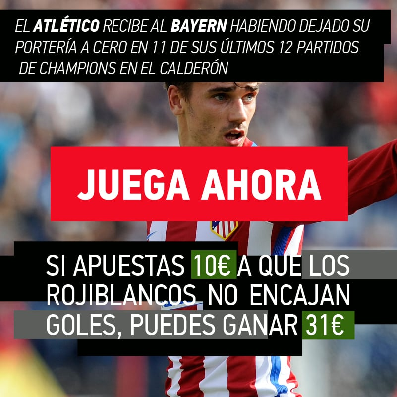 El dato favorable al Atlético de Madrid en su trascendental duelo de Champions ante el Bayern de Múnich.