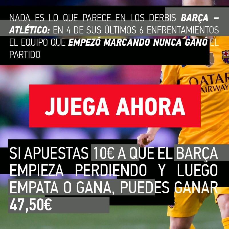 El dato que puede hacernos pescar en la locura del Barça - Atlético.