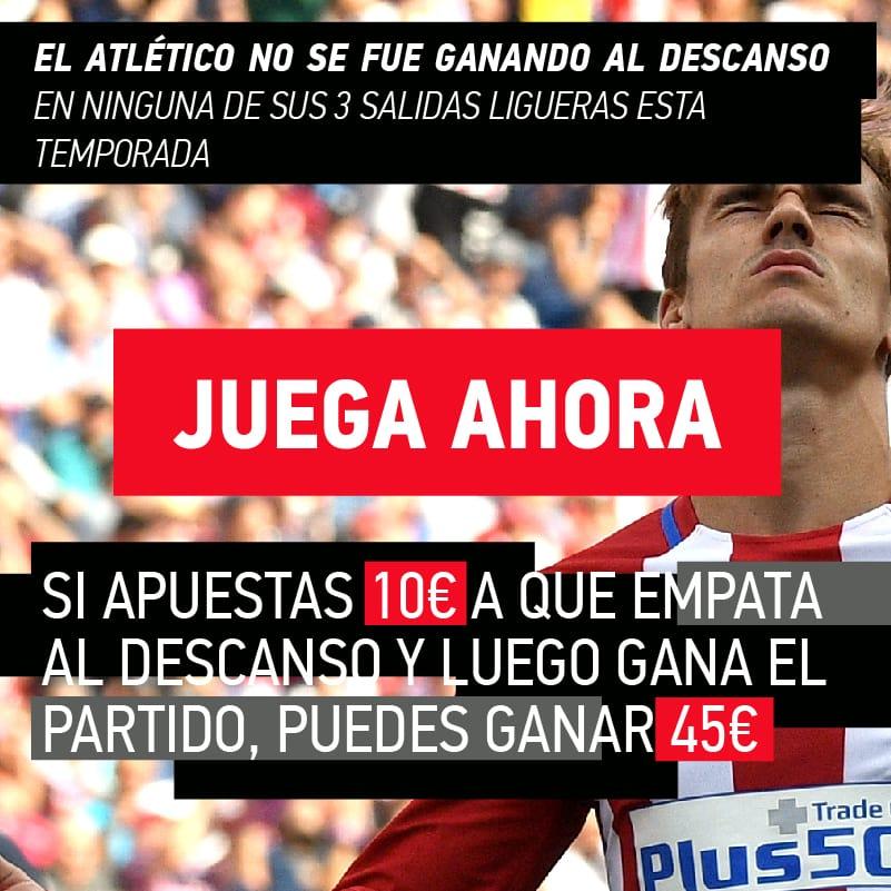 El rendimiento del Atlético de Madrid fuera de casa, clave en nuestras apuestas de la jornada.