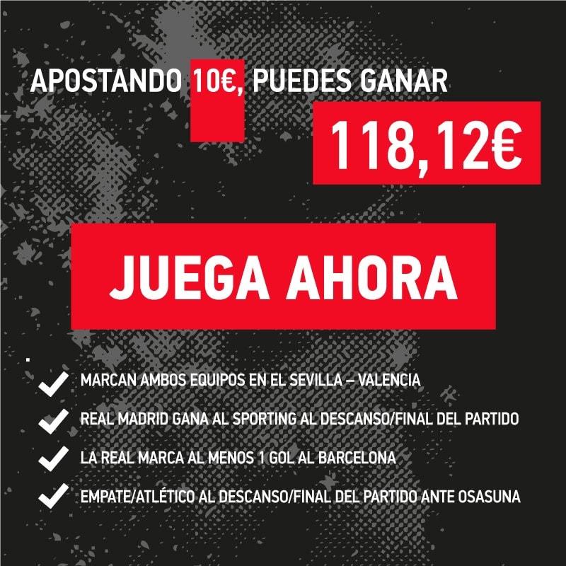 La apuesta combinada de la jornada 13 en la Liga BBVA.