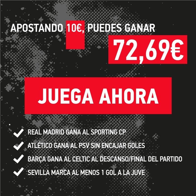 La combinada de la jornada que puede ser decisiva para los equipos españoles en la Champions.
