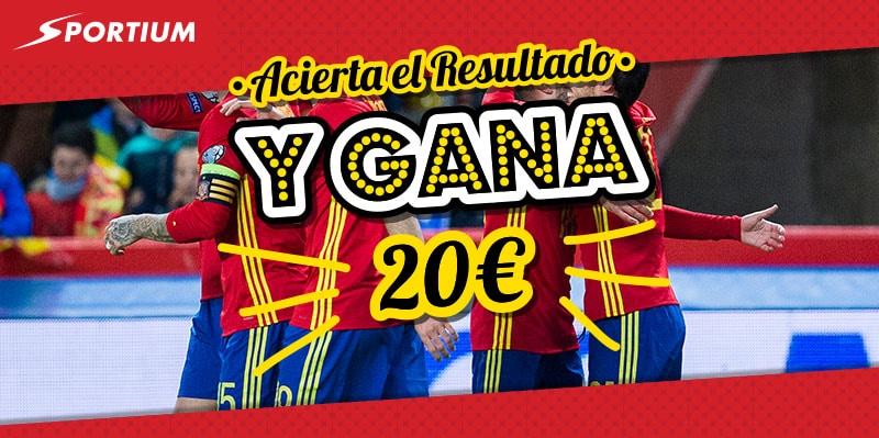Porra Macedonia vs España con 20€ de freebet