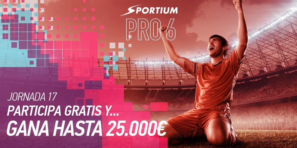 Disfruta de Sportium Pro6 una semana más con estos 6 partidos