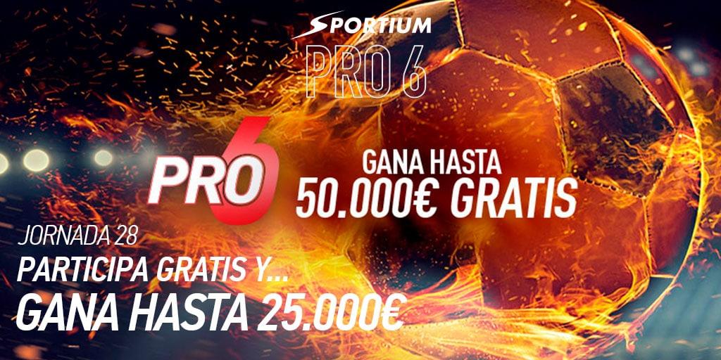 Los seis partidos de Sportium PRO6 para ganar 50.000€