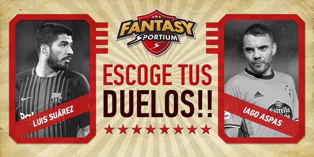 Iago Aspas vs Luis Suárez, y 4 duelos más de Fantasy Sportium esta semana