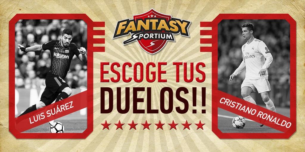 Suárez vs Ronaldo: ¡Duelo estelar del Clásico y de Fantasy Sportium!