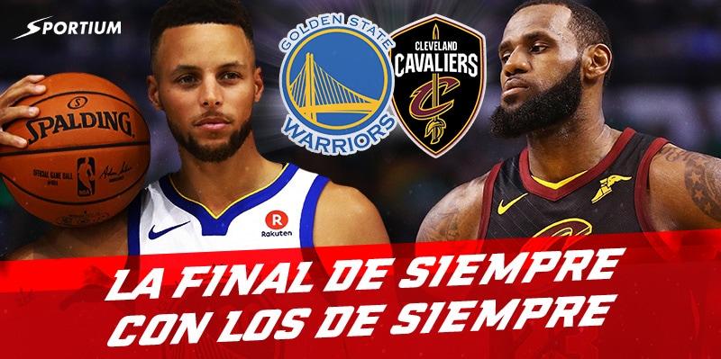 Apuestas Final NBA 2018: Warriors vs Cavaliers