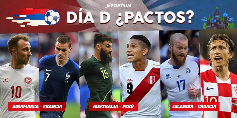 Apuestas Dinamarca-Francia, Australia-Perú e Islandia-Croacia: ¡Cerramos los Grupos C y D!