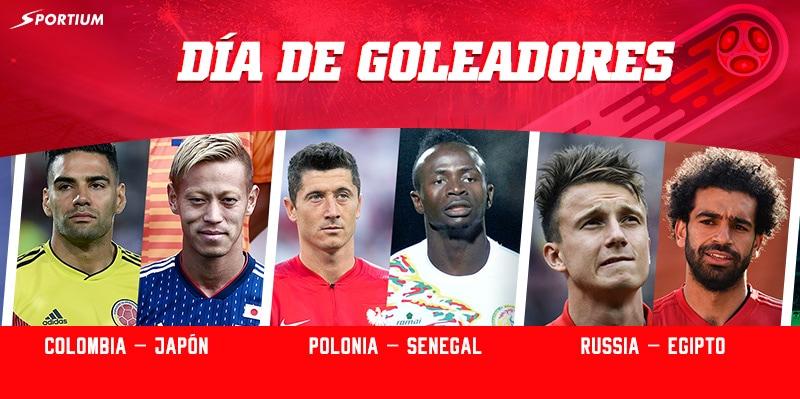Apuestas Mundial 2018 del martes: Colombia-Japón, Polonia-Senegal y Rusia-Egipto