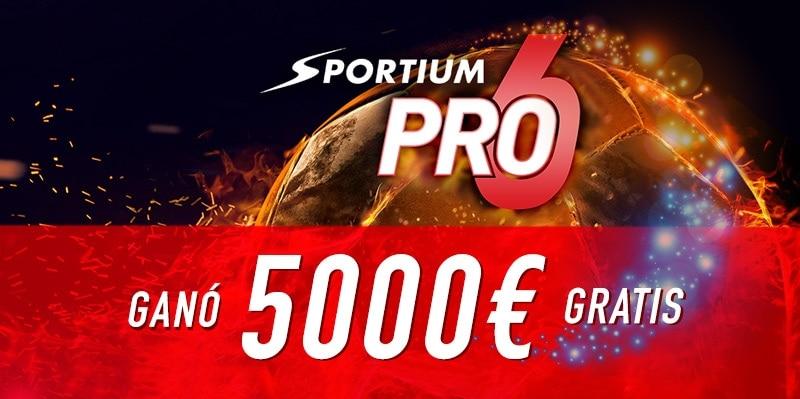 Nuevo Ganador Sportium Pro6: 5000€ gratis